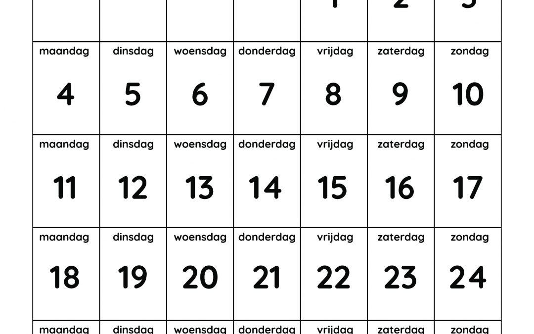 Gratis aftelkalender van heBBiez
